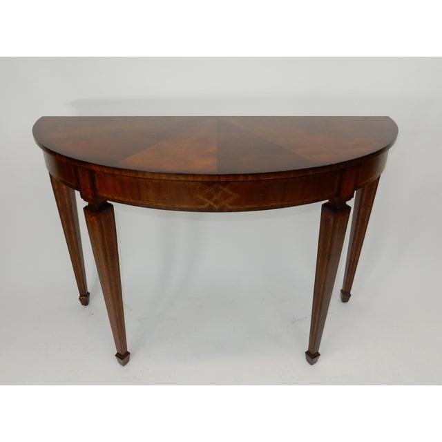 Awesome Maitland Smith Inlaid Mahogany Console Table Ibusinesslaw Wood Chair Design Ideas Ibusinesslaworg