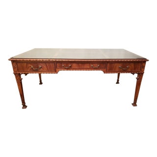 19th Century English Ornate Writing Desk For Sale