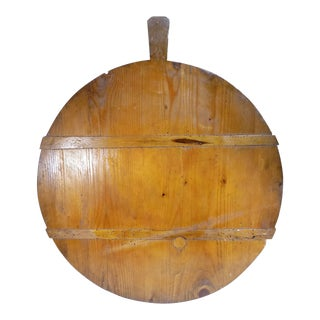1920s Antique French Harvest Bread Cheese Cutting Board For Sale