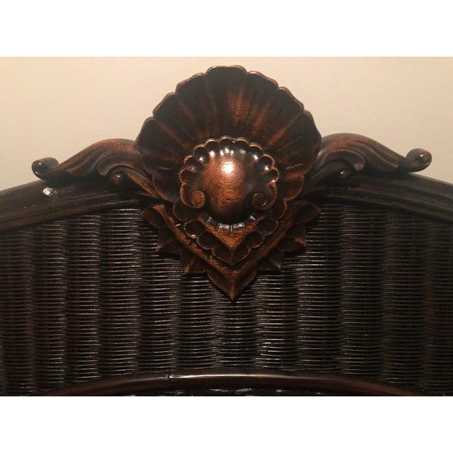 Ralph Lauren Country Ralph Lauren King-Sized Wicker and Wood Bedframe For Sale - Image 4 of 13