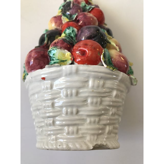 Vintage Porcelain Italian Fruit Topiary For Sale In Chicago - Image 6 of 9