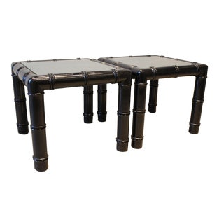 19th Century Asian Painted Bamboo Tables - a Pair For Sale