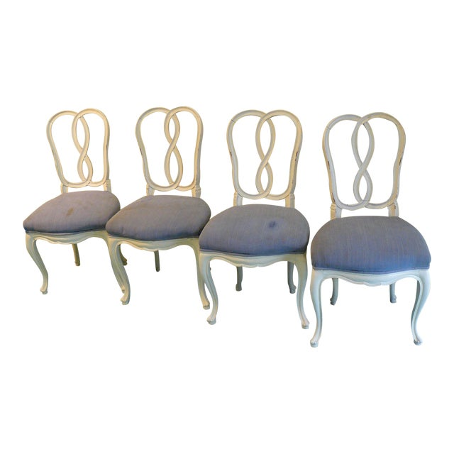 Early 20th Century Pretzel Chairs- Set of 4 For Sale