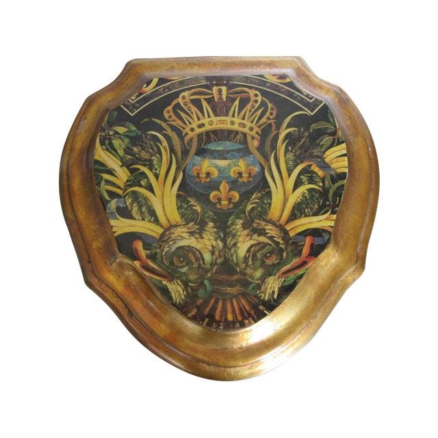 Vintage Enamel Koi Fleur De Lis Box - Image 2 of 10