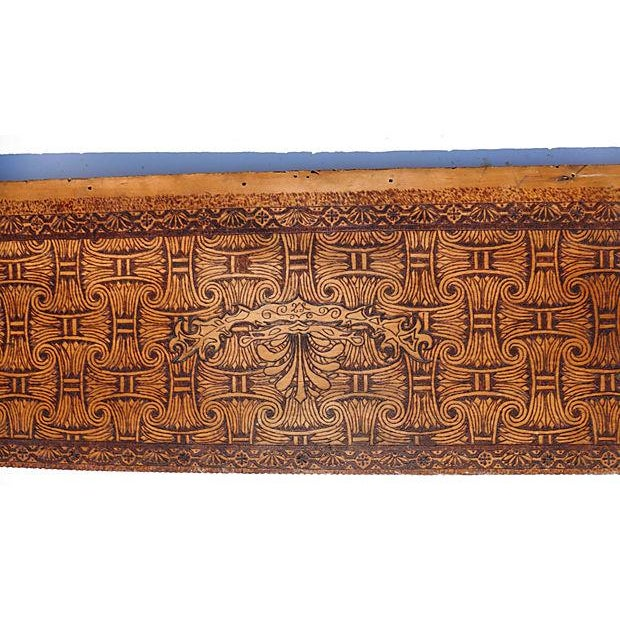 Art Nouveau Carved Wood Frieze Wall Hanging For Sale - Image 4 of 7