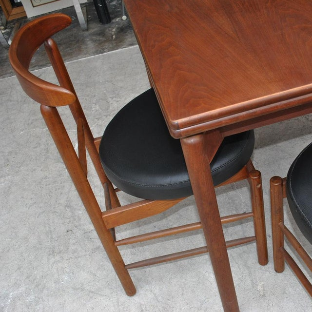1960s Vintage Greta Grossman Teak Expandable Dining Table and Chairs - 5 Pieces For Sale - Image 11 of 12
