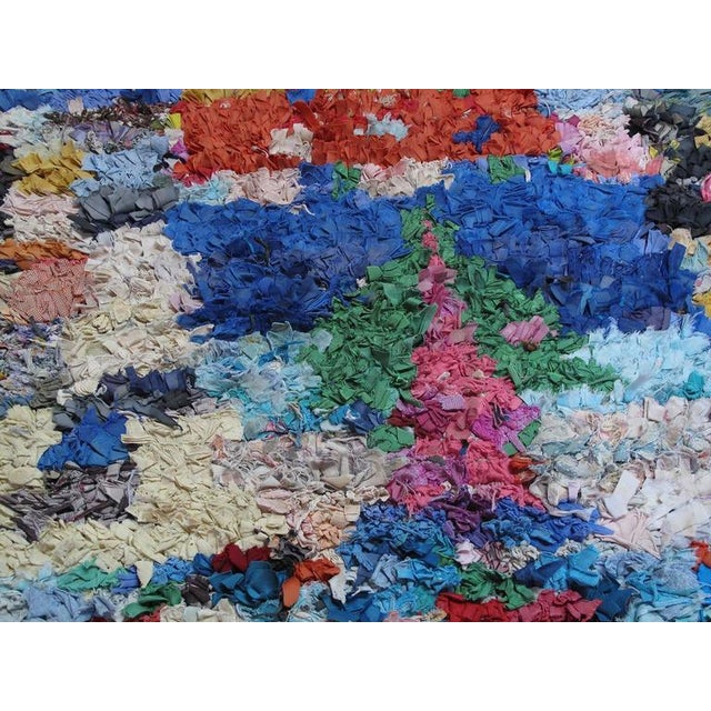 """Moroccan """"Boucherouite"""" Rug For Sale In New York - Image 6 of 9"""