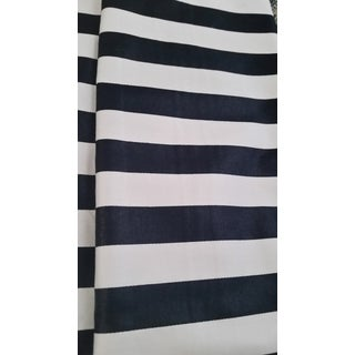 1980s 5th Avenue Designs B & W Stripes Upholstery Fabric For Sale