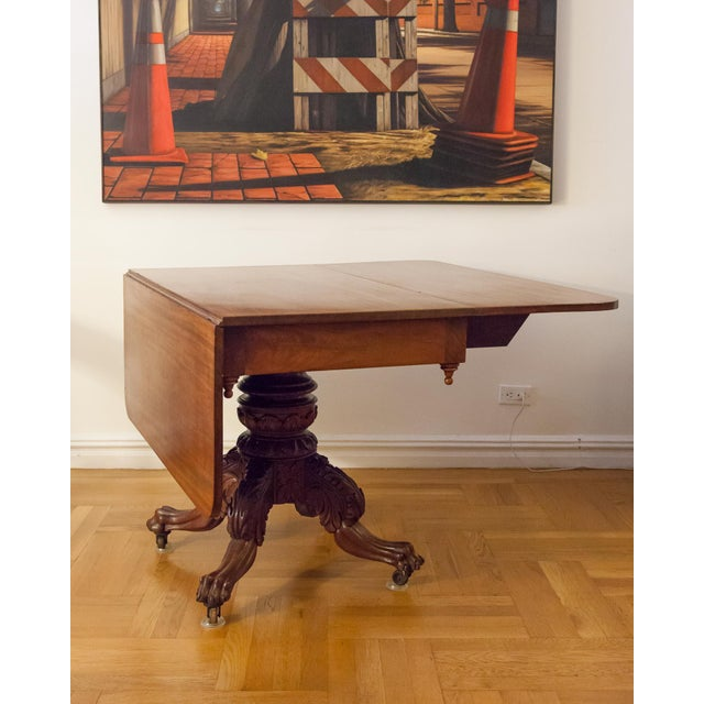 American Federal Drop-Leaf Mahogany Table Set - Image 7 of 7