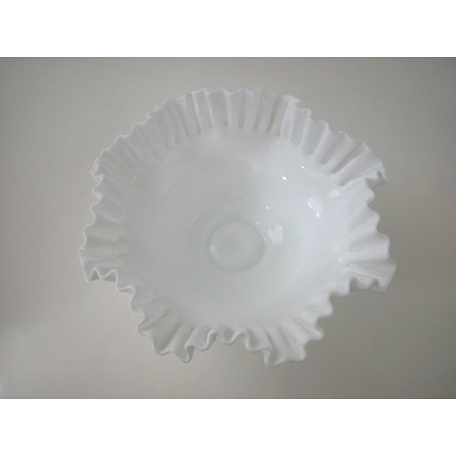 Vintage Milk Glass Hobnail Bowl - Image 6 of 6