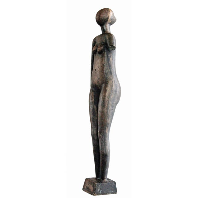 Mid-Century Abstract Bronze Sculpture - Image 4 of 6