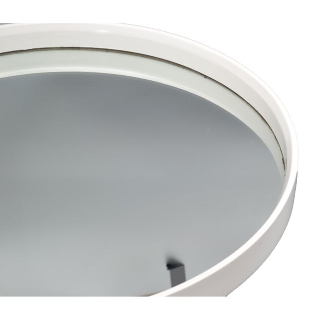 Round White Bentwood Wall Mirror For Sale - Image 4 of 8