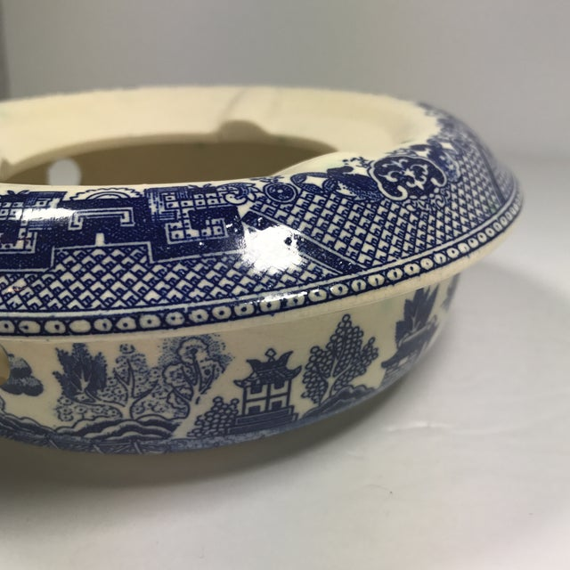 Vintage Blue Willow Warmer For Sale - Image 9 of 10