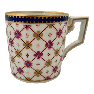 Richard Ginori Antique Italian Porcelain Demitasse Coffee Cup For Sale
