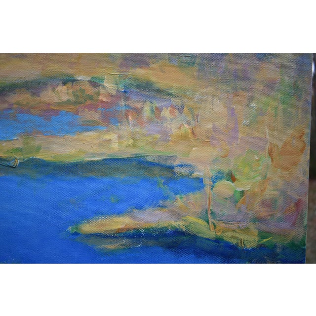 """2010s Contemporary Landscape Painting by Stephen Remick """"Autumn at the Marsh"""" For Sale - Image 5 of 13"""
