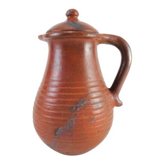 Boho Chic Terra Cotta Jug For Sale