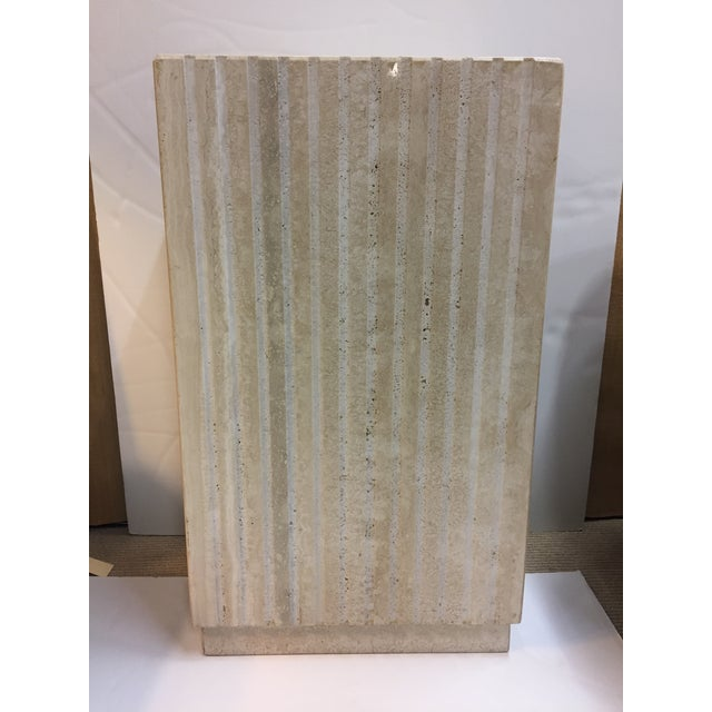 Vertical Cut Travertine Console Pedestal For Sale - Image 4 of 10