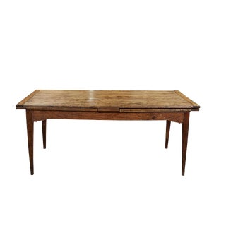 French Country Dining Table With Pull Out Leaves For Sale