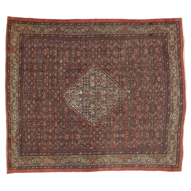 "Antique Persian Mahal Rug - 8'6"" X 10' For Sale"