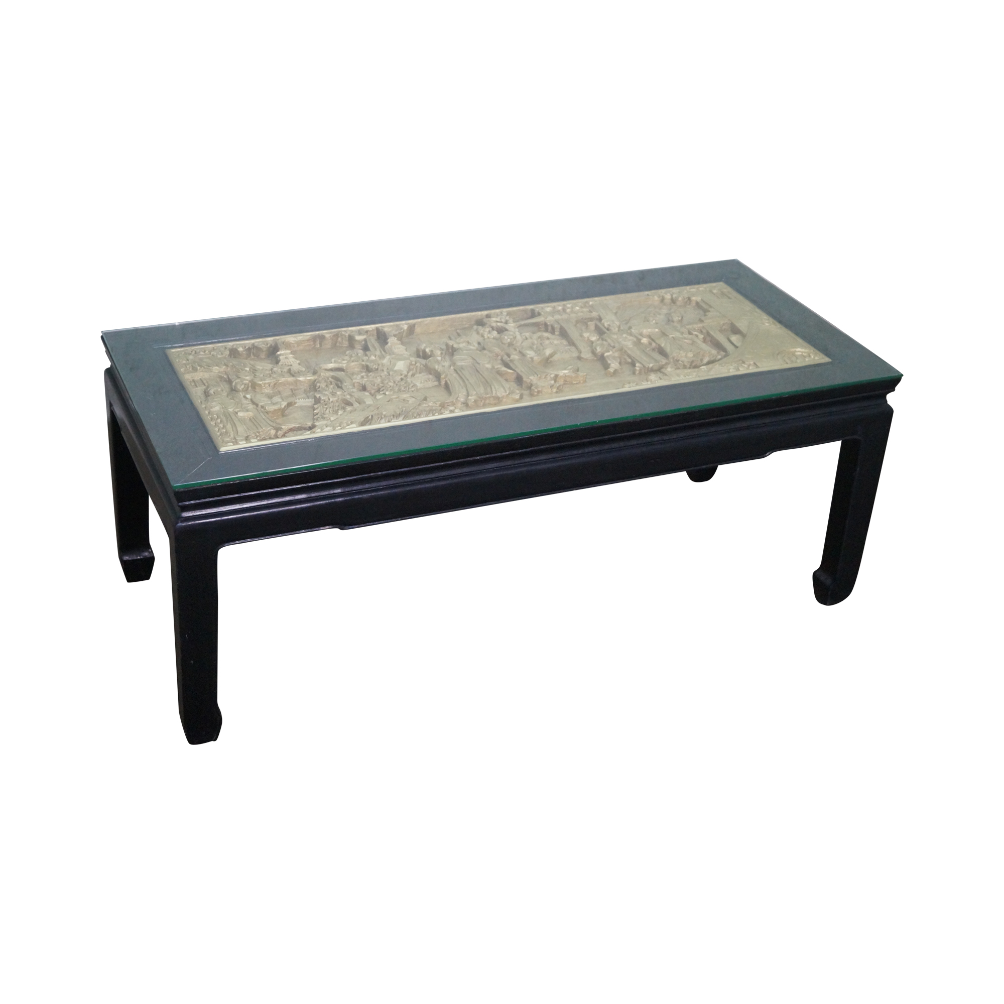 Exceptionnel Vintage Black U0026 Gold Chinese Coffee Table