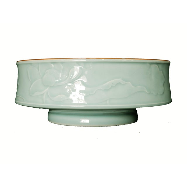 Hand Carved Celadon Bowl - Image 2 of 6
