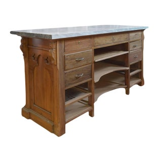 French Wood and Marble Store Counter