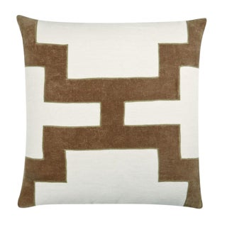 "Piper Collection Stone Velvet ""Catie"" Pillow"