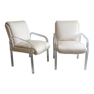 1970s Vintage Pace Lucite Armchairs - a Pair For Sale
