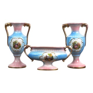 Vintage 1930's Italian Porcelain Wedding Service Set for Newlywed Couples Rare For Sale