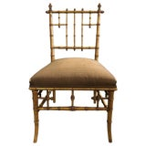 Image of 19th Century Victorian Style Faux-Bamboo Side Chair For Sale