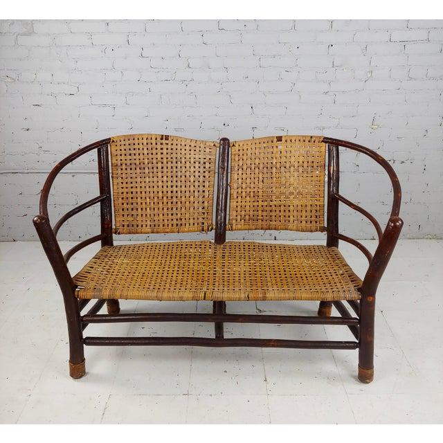 American Antique 1920s Bentwood Settee and Chairs -Salon - Set of 3 For Sale - Image 3 of 12