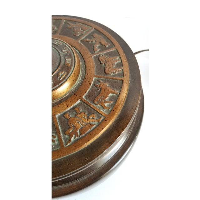 Bronze Mid Century Frederick Cooper Astrological Armillary Table Lamp For Sale - Image 7 of 8
