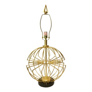Currey & Co. Modern Gold Sphere Table Lamp For Sale