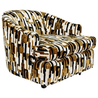 1970s Mid-Century Modern Baughman Tub Lounge Chair in Lenor Larsen Fabric For Sale