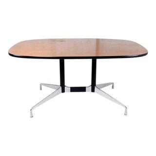 Vintage Mid-Century Modern Herman Miller Teak Top Dining Table For Sale