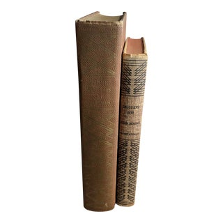 Final Price! Mid 20th Century Books With Geometric Spines - a Pair For Sale