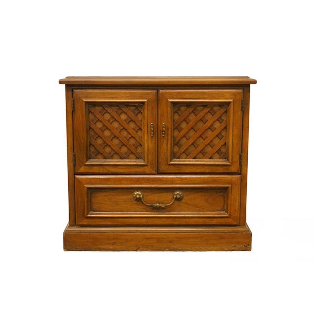 "Drexel Esperanto Collection Spanish Mediterranean 26"" Cabinet Nightstand For Sale - Image 13 of 13"