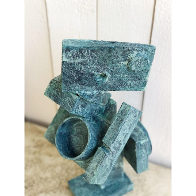 """Wood Abstract Cubist Sculpture """"Dancer"""" by Bill Low For Sale - Image 7 of 13"""