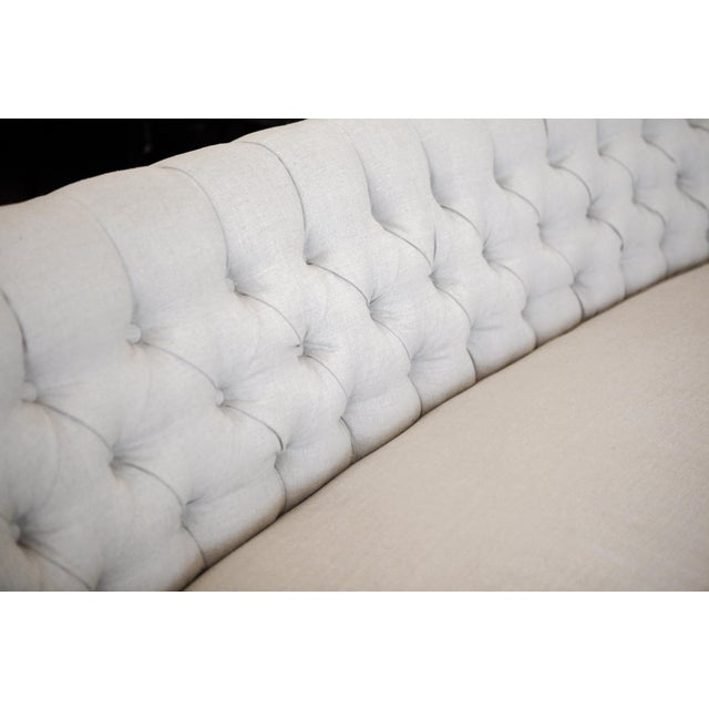 Tufted Oatmeal Linen Couch Chairish