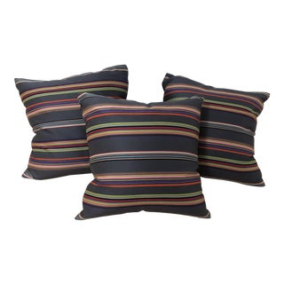 Custom Paul Smith Nylon Wool Pillow Covers (Inserts Not Included) - Set of 3 For Sale