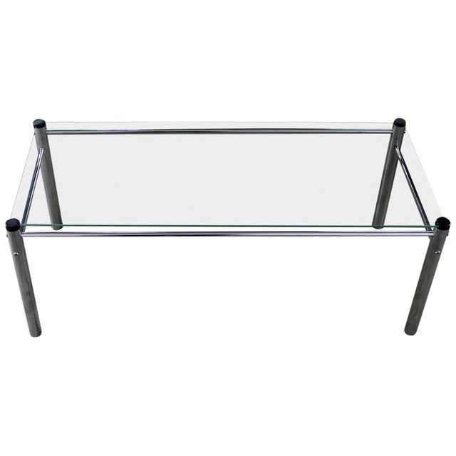 James David Furniture Attributed Chrome & Glass Coffee Table - Image 1 of 12