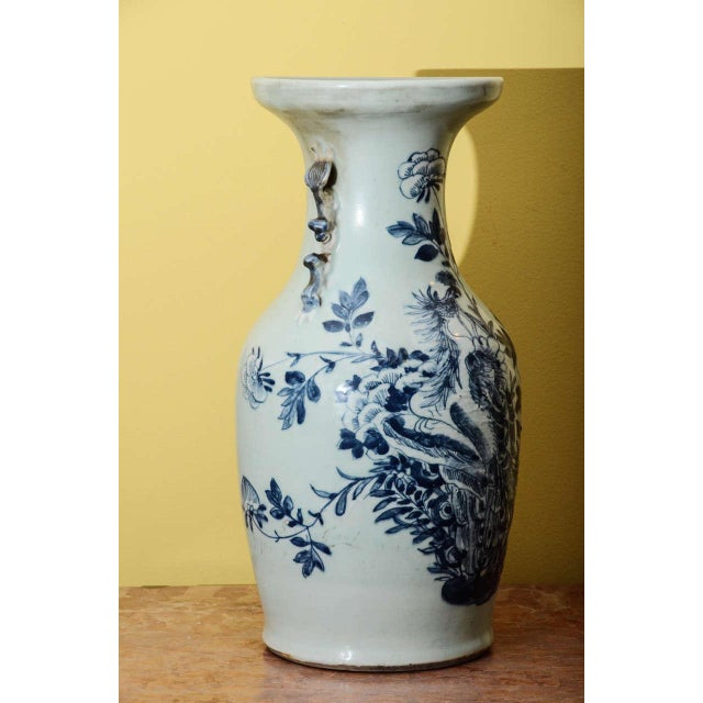 Blue & White Temple Vase - Image 4 of 7