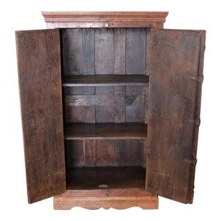 Vintage Door Cabinet With Metal For Sale