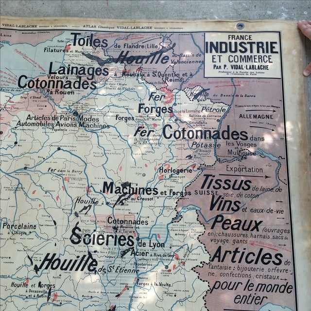 1950s French Two-Sided School Map of France For Sale - Image 11 of 11
