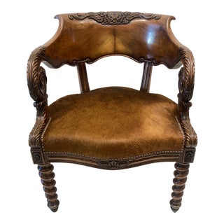 19th Century Louis Philippe Desk Chair For Sale