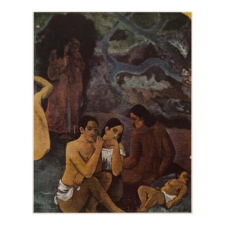 """1950s """"Where Do We Come From?"""" by Paul Gauguin, Boho Chic First Edition Lithograph For Sale"""