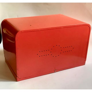 1950s Vintage Beautyware Style Orange Breadbox Preview