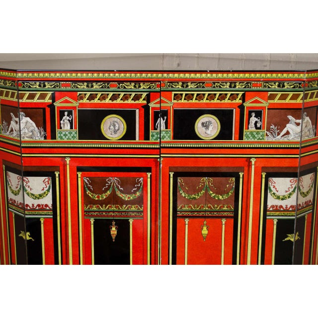 Piero Fornasetti Exceptional Lacquered Encoignure/Corner Cabinet For Sale In San Francisco - Image 6 of 8
