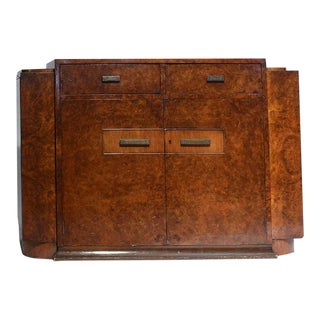 Art Deco Burl Walnut Veneer Bar/Buffet For Sale