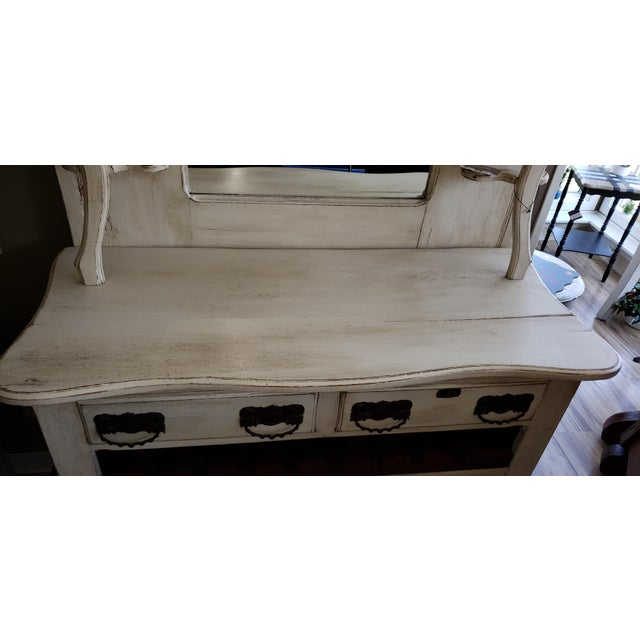 Circa 1880 Farmhouse Style Buffet With Wine Rack For Sale - Image 4 of 11